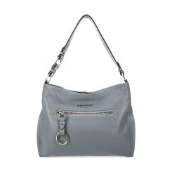 Элегантная женская сумка на плечо из серо-синей натуральной кожи от Fiato Dream, арт. 1025-d171395