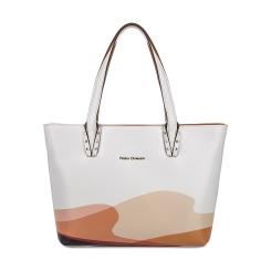 Женская сумка из белой натуральной кожи с абстрактным рисунком от Fiato Dream, арт. 1027-d171334