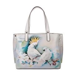 Бежевая женская сумка из натуральной кожи с эффектным рисунком от Fiato Dream, арт. 1029-d171396