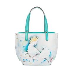 Стильная женская кожаная сумка с рисунком нежного бирюзового цвета от Fiato Dream, арт. 1030-d171332