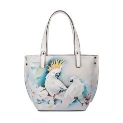 Белая женская сумка из натуральной кожи с красивым рисунком от Fiato Dream, арт. 1030-d171386