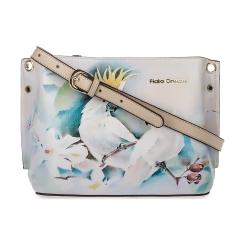 Эффектная бежевая женская сумка из натуральной кожи с красивым принтом от Fiato Dream, арт. 1031-d171335