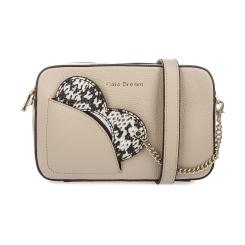 Бежевая женская сумка из натуральной кожи компактного размера от Fiato Dream, арт. 1040-d171382