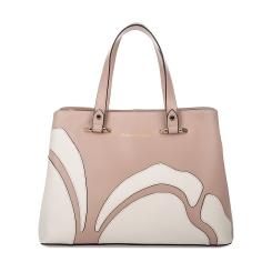 Нежно-розовая женская сумка из натуральной кожи с эффектной аппликацией от Fiato Dream, арт. 1120
