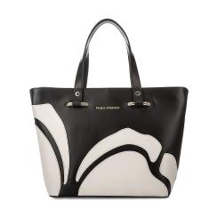 Черная женская сумка из натуральной кожи с аппликацией от Fiato Dream, арт. 1121