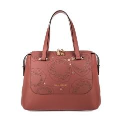 Роскошная женская сумка из розовой натуральной кожи с узором от Fiato Dream, арт. 1123