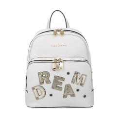 Городской молодежный женский рюкзак из белой натуральной кожи от Fiato Dream, арт. 1132-d172390