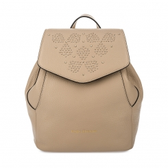 Эффектный женский кожаный рюкзак с россыпью хольнитенов на клапане от Fiato Dream, арт. 1136