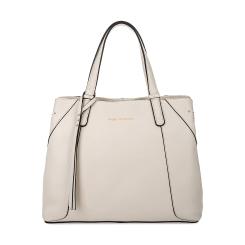 Практичная классическая женская сумка из белой натуральной кожи от Fiato Dream, арт. 1138