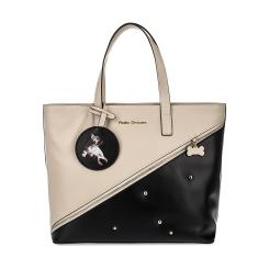 Черно-бежевая женская сумка из натуральной кожи с имитацией кармана от Fiato Dream, арт. 1141-d167065