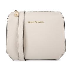 Женская сумка формата мини, выполненная из кремовой натуральной кожи от Fiato Dream, арт. 1143