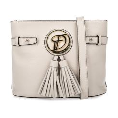 Бежевая женская сумка из плотной качественной натуральной кожи от Fiato Dream, арт. 1145-d172420