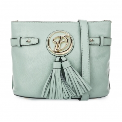 Женская сумка через плечо из бледно-зеленой натуральной кожи от Fiato Dream, арт. 1145