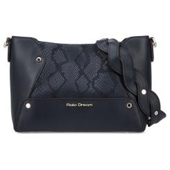 Стильная женская сумка через плечо синего цвета из натуральной кожи от Fiato Dream, арт. 1201-d178678
