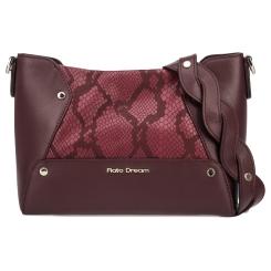 Бордовая женская сумка через плечо из натуральной кожи с тиснением от Fiato Dream, арт. 1201-d178741