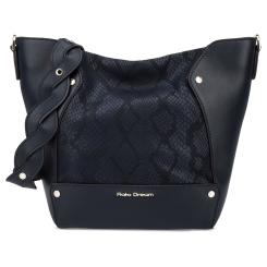 Стильная женская кожаная сумка мешок синего цвета из натуральной кожи от Fiato Dream, арт. 1202-d178744