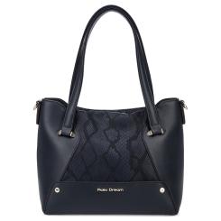 Повседневная женская сумка синего цвета, выполнена из натуральной кожи от Fiato Dream, арт. 1203-d178747