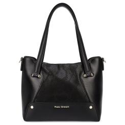 Практичная женская сумка черного цвета, выполнена из натуральной кожи от Fiato Dream, арт. 1203