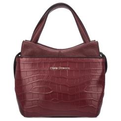 Бордовая женская сумка из натуральной кожи с тиснением под крокодила от Fiato Dream, арт. 12120-d167031
