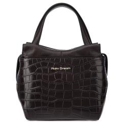 Стильная женская сумка из натуральной кожи коричневого цвета от Fiato Dream, арт. 12120-d178406