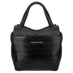 Элегантная женская сумка черного цвета из натуральной кожи от Fiato Dream, арт. 12120