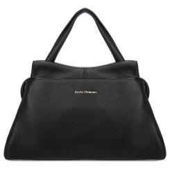 Элегантная женская сумка черного цвета, выполнена из натуральной кожи от Fiato Dream, арт. 12130