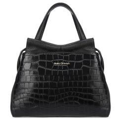 Модная женская сумка из натуральной кожи под крокодила, черного цвета от Fiato Dream, арт. 12140-d178410