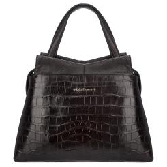 Элегантная женская кожаная сумка коричневого цвета с тиснением под крокодила от Fiato Dream, арт. 12140