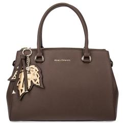 Коричневая женская сумка из натуральной кожи с тиснением сафьяно от Fiato Dream, арт. 1215-d167041