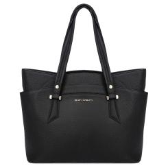Стильная женская деловая сумка из натуральной кожи черного цвета от Fiato Dream, арт. 1221