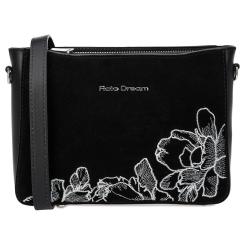 Женская сумка черного цвета из натуральной замши в комбинации с кожей от Fiato Dream, арт. 1229-d178443