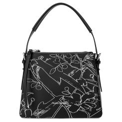Элегантная женская сумка черного цвета, модель небольшого размера от Fiato Dream, арт. 1231-d178448