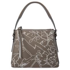 Практичная женская сумка из натуральной кожи серого цвета от Fiato Dream, арт. 1231-d178449
