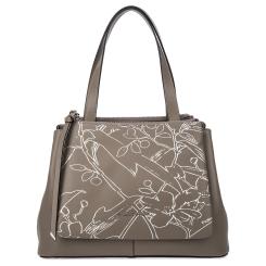 Модная женская сумка серого цвета из натуральной кожи от Fiato Dream, арт. 1232-d178452