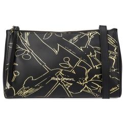 Модная женская сумка через плечо черного цвета из натуральной кожи от Fiato Dream, арт. 1234-d178401