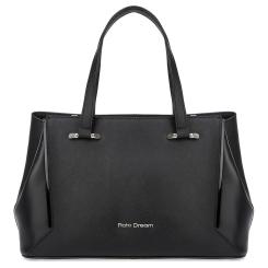 Женская сумка черного цвета из натуральной кожи сафьяно с лаковыми вставками от Fiato Dream, арт. 1235-d178450