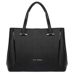 Классическая женская сумка черного цвета из кожи Saffiano от Fiato Dream, арт. 1237-d178455