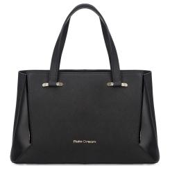 Практичная женская сумка черного цвета из натуральной кожи от Fiato Dream, арт. 1237