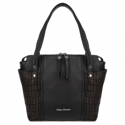 Стильная женская сумка на плечо черного цвета из натуральной кожи от Fiato Dream, арт. 1239