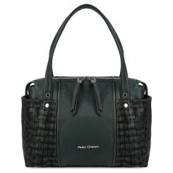 Эффектная женская сумка зеленого цвета с внешними боковыми карманами от Fiato Dream, арт. 1240-d178688