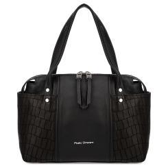 Повседневная женская сумка черного цвета, выполнена из натуральной кожи от Fiato Dream, арт. 1240-d178742