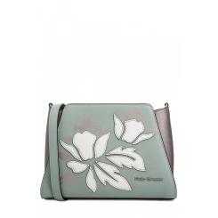 Удобная женская сумка из зеленой натуральной кожи с аппликацией от Fiato Dream, арт. 1802-d183809