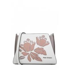 Элегантная женская сумка из белой натуральной кожи с аппликацией от Fiato Dream, арт. 1802-d183874