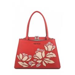 Модная женская сумка из красной натуральной кожи с аппликацией от Fiato Dream, арт. 1803-d183811