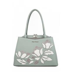 Красивая женская сумка из салатовой натуральной кожи с аппликацией от Fiato Dream, арт. 1803-d183812