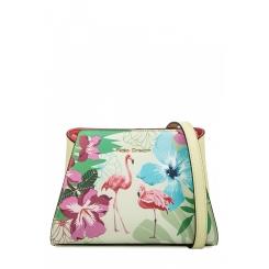 Женская сумка через плечо из натуральной кожи лимонного цвета с летним принтом от Fiato Dream, арт. 1813-d183838