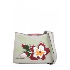 Практичная женская сумка через плечо из серой натуральной кожи с аппликацией от Fiato Dream, арт. 1816-d183846