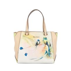 Вместительная женская кожаная летняя сумка с нежным рисунком от Fiato Dream, арт. 2006
