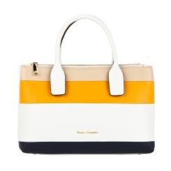 Элегантная трехцветная сумка из плотной кожи высокого качества от Fiato Dream, арт. 2020
