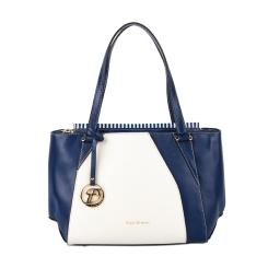 Бело-синяя женская сумка из плотной натуральной кожи от Fiato Dream, арт. 2024-d145971